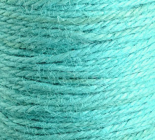 2mm Turquoise colored Hemp Cord - 10 feet - Packaging string - Macrame hemp cord - Hemp thread (1438)