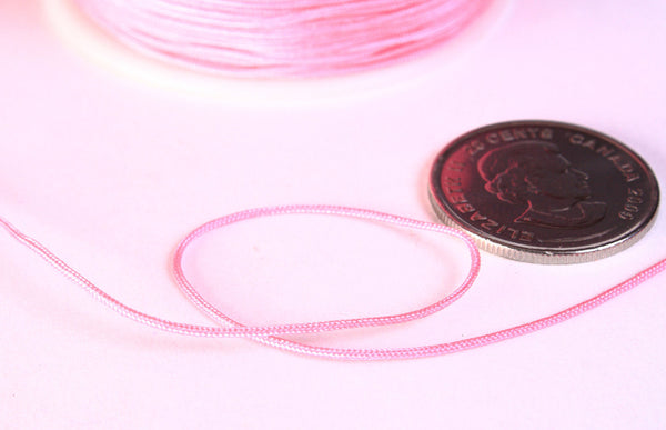 1mm pink nylon cord - nylon thread - chineese Knotting Cord - Macrame thread - 10 feet (1442)