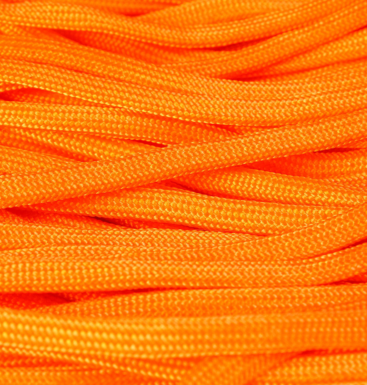 4mm Orange parachute cord - orange rope - Paracord - Para cord - 10 feet / 3 meters / 3.33 yards (1459)