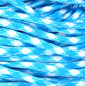 4mm Blue white parachute cord - rope - Paracord - Para cord - 10 feet / 3 meters / 3.33 yards (1458)