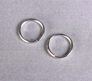 10mm Silver color double loop jumpring round - 30 pieces (1500)