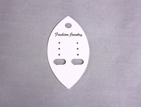 Earring display cards - Fashion jewelry display cards - white display cards - 70mm x 35mm - 10 pieces (1567)