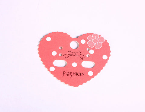 Earring display cards - Fashion display cards - pink and white display cards - heart display cards - 42mm x 50mm - 10 pieces (1568)