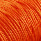 2mm orange nylon thread cord - Knotting cord - Thick nylon thread - Nylon satin cord - Macrame cord - 10 feet (R024)