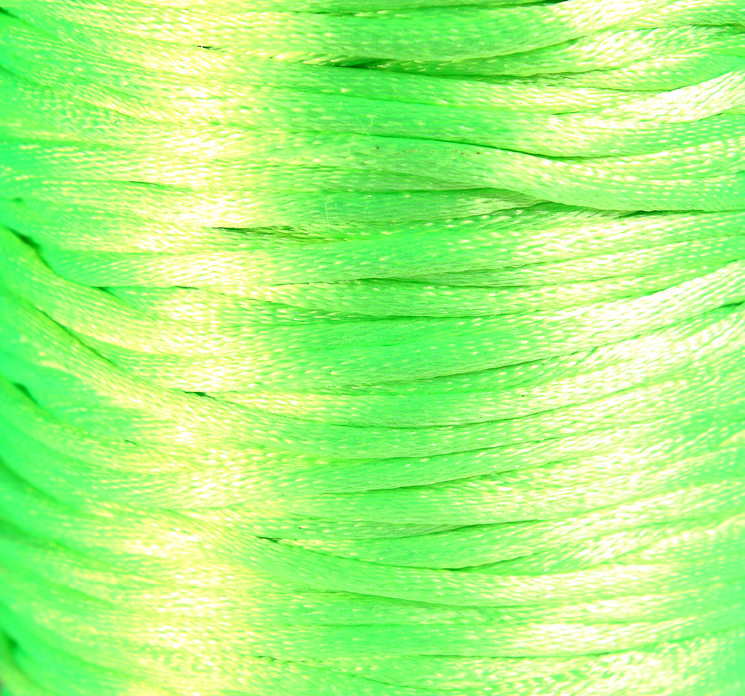 2mm Neon green nylon thread cord - Knotting cord - Thick nylon thread - Nylon satin cord - Macrame cord - 10 feet (R032)