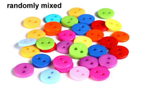 9mm Mixed color button - resin button - craft button - Round buttons - 2 holes - 30 pieces (1604)