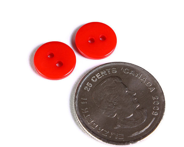 11mm Mixed color button - resin button - craft button - Round buttons - 2 holes - 30 pieces (1602)