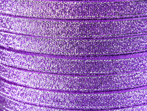 6mm Purple Sparkle ribbon - Satin ribbon - Metallic Sparkle satin ribbon - Spool ribbon - 25 yards - 75 feet (R055)