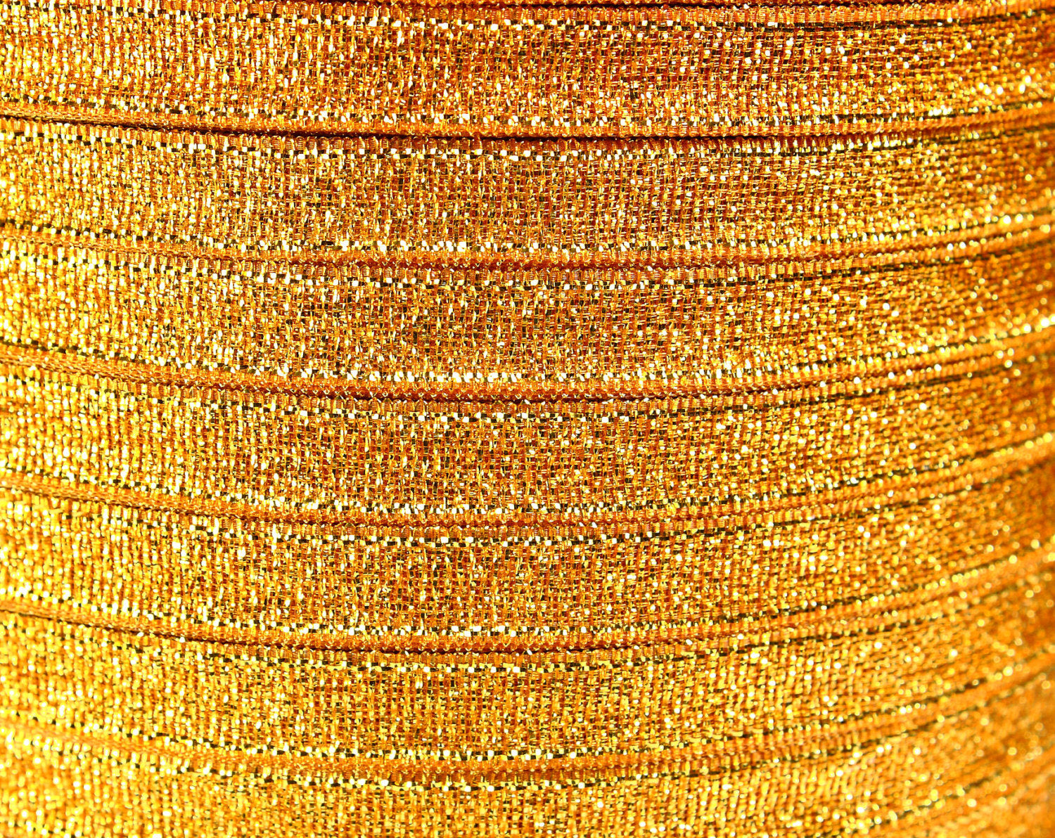 6mm gold Sparkle ribbon - Satin ribbon - Metallic Sparkle satin ribbon - Spool ribbon - 25 yards - 75 feet (R061)