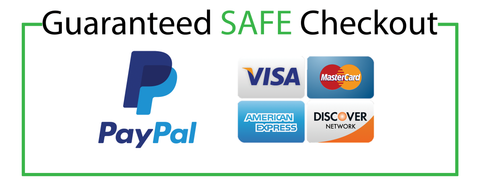 Safe check out with PayPal and majority credit card: visa, master, discover, america express