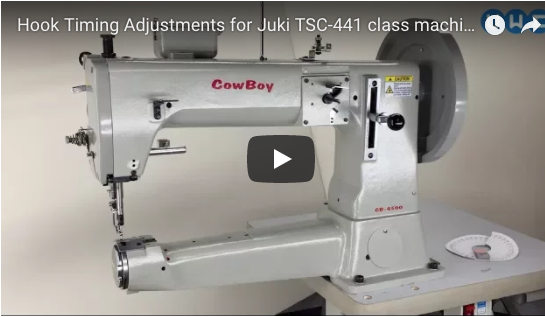 Hook timing for Juki TSC-441 class machines