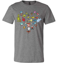 Load image into Gallery viewer, Dr. Seuss Characters Heart T-shirt