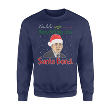 Load image into Gallery viewer, FOAL14 The Office Sweatshirt, Santa Bond Michael Scott, Adult Unisex, Size S-5XL