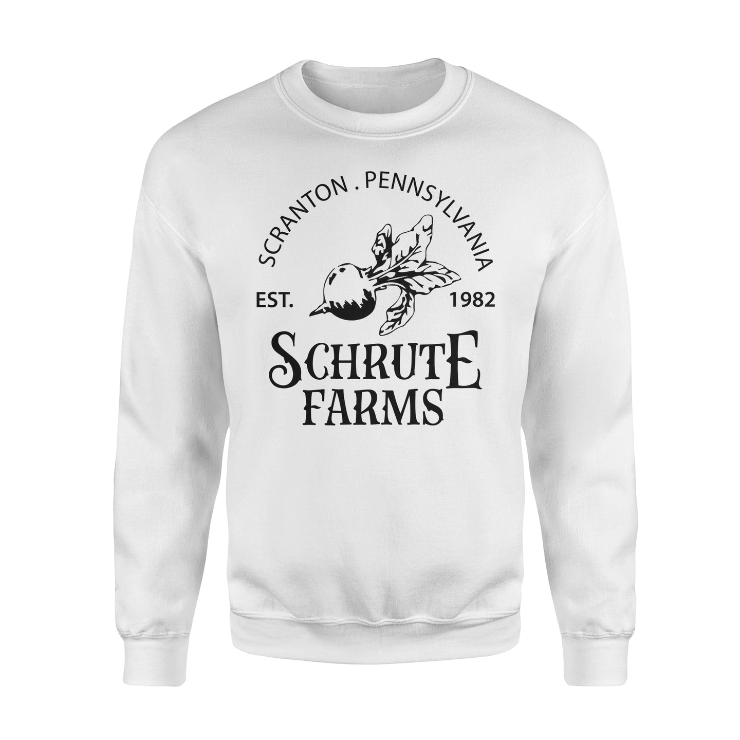 FOAL14 The Office Sweatshirt, Schrute Farms, Adult Unisex, Size S-5XL