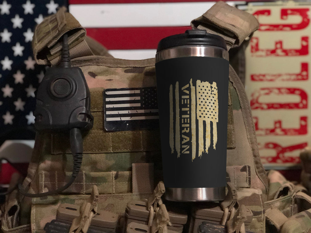 Flag-shaped Veteran Tumbler 2019