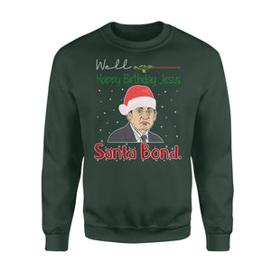 FOAL14 The Office Sweatshirt, Santa Bond Michael Scott, Adult Unisex, Size S-5XL