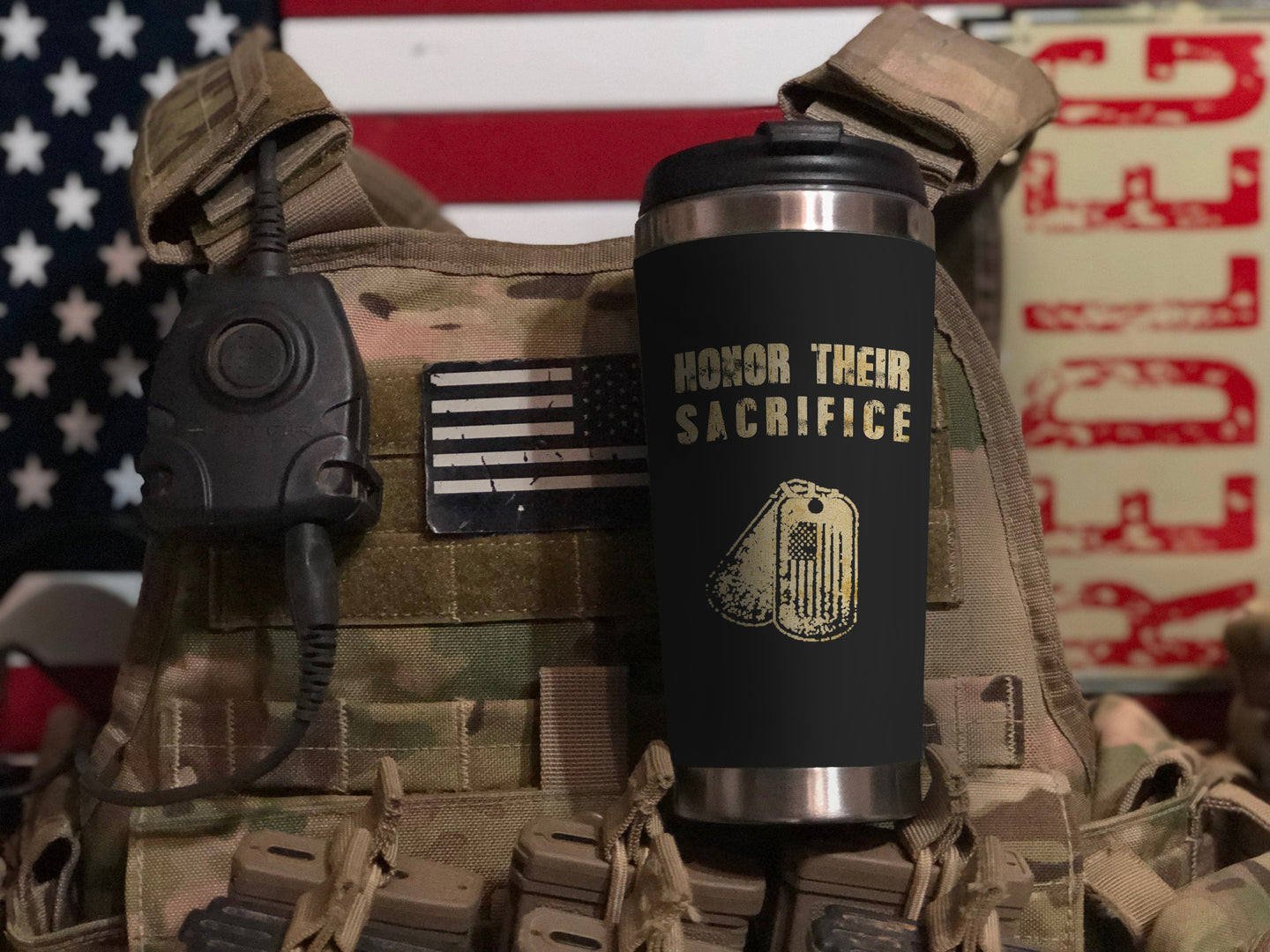 Honor Their Sacrifice Veteran Tumbler 2019