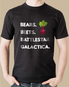FOAL14 The Office T-Shirt, Bears. Beets. BG., Adult Unisex, Size XS-4XL