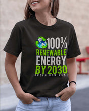 Load image into Gallery viewer, Renewable Energy By 2030 Premium T-shirt