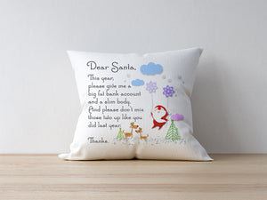 Deep Wish For Santa Pillow 2019