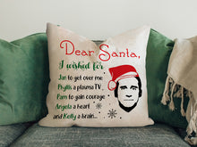 Load image into Gallery viewer, FOAL14 The Office Pillow, Dear Santa Wishes By Michael Scott, Polyester, Size S-L