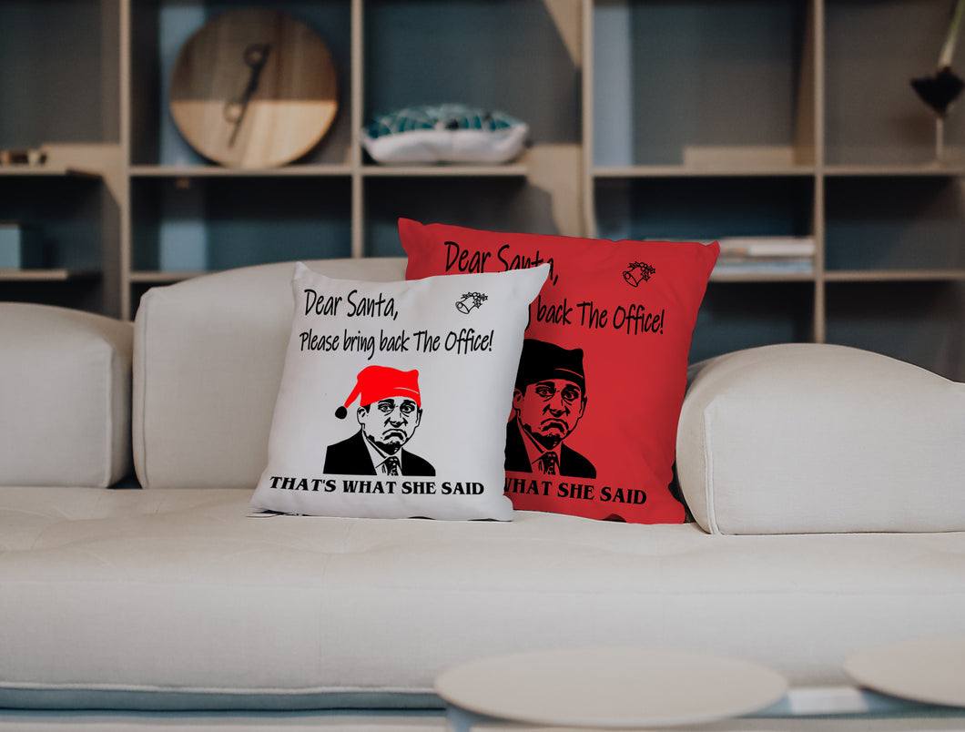 What She Said - Red Version Pillow 2019