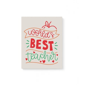 World Best Teacher Canvas
