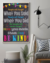Load image into Gallery viewer, People Will Never Forget How You Made Them Feel - Be Kind 2019 Poster