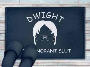 FOAL14 The Office Bath Mat, Dwight - You Ignorant Slut, Polyester, Size S-M