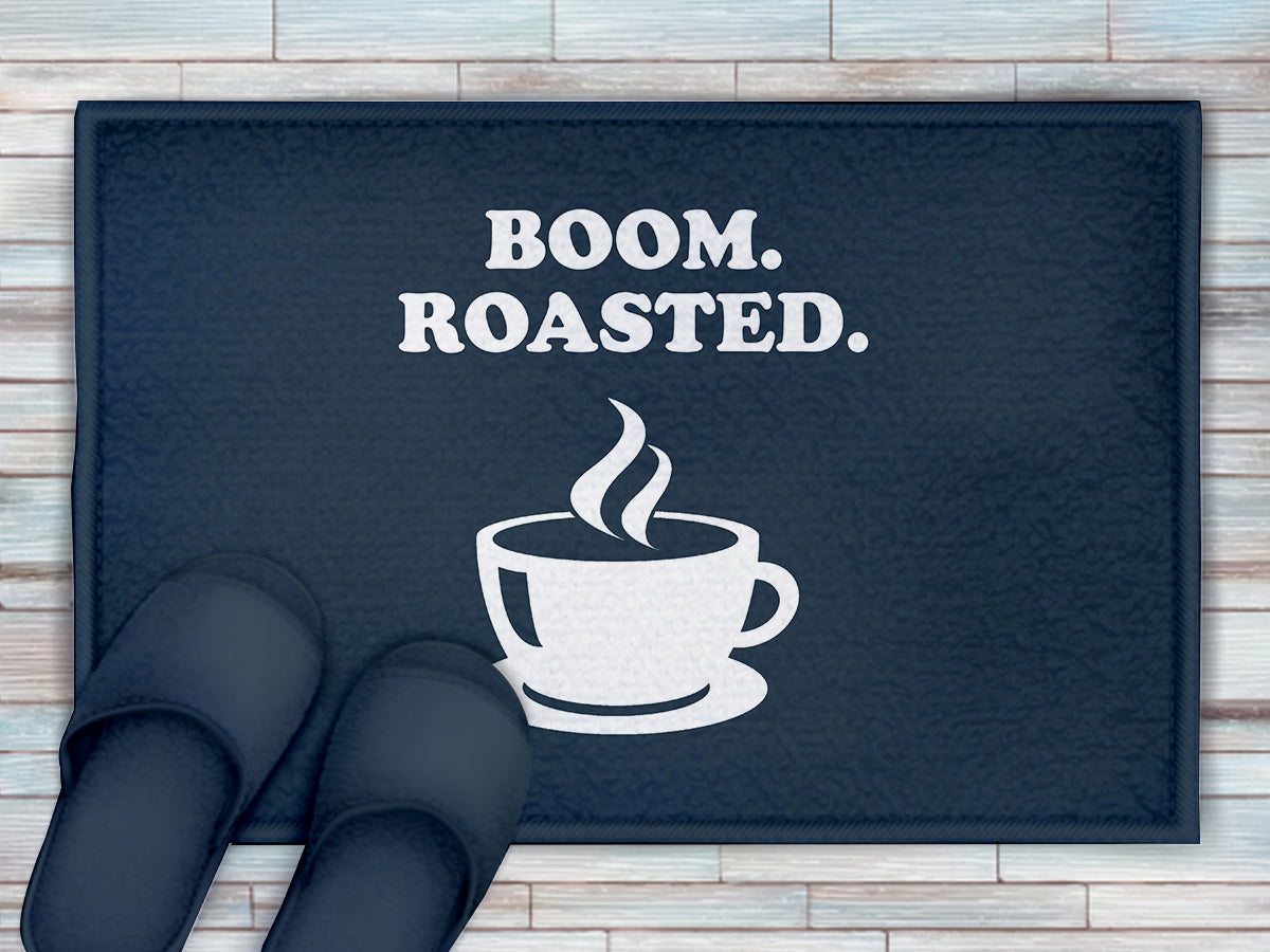 FOAL14 The Office Bath Mat, Boom Roasted, Polyester, Size S-M
