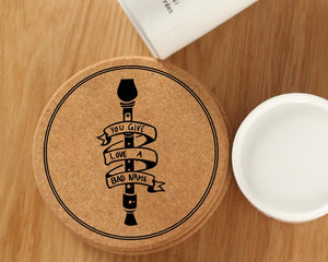 The O.f.f.i.c.e Cork Coasters