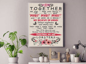 Together, We Are Lobsters Canvas