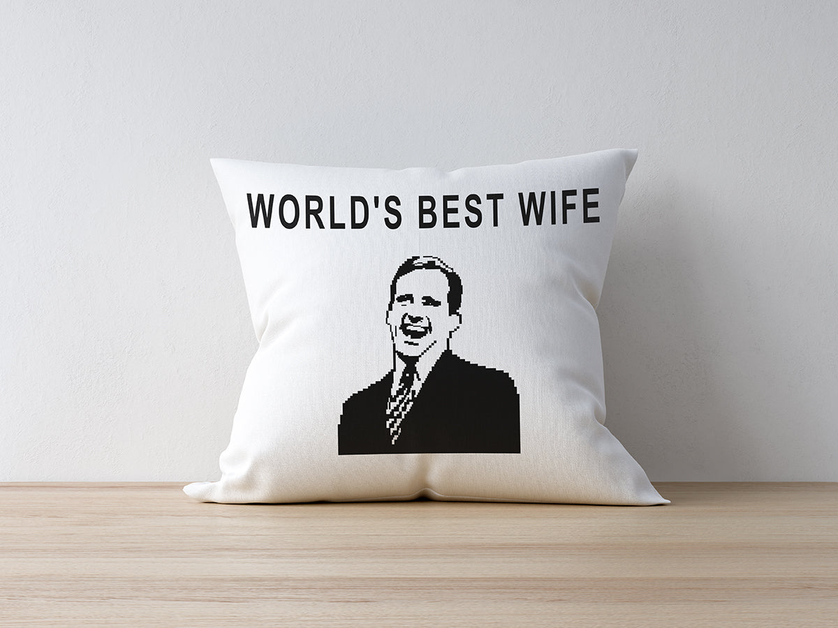 FOAL14 The Office Pillow, Best Wife, Polyester, Size S-L