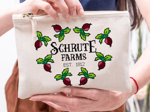 FOAL14 The Office Pouch, Schrute Farms Office, Spun Poly, Nonwoven Laminate Inside