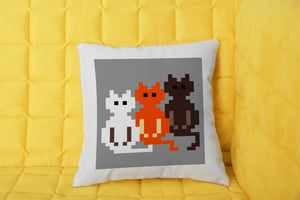 FOAL14 The Office Pillow, The Triple Cats, Polyester, Size S-L
