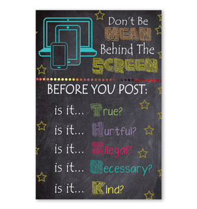Don't Be Mean Behind The Screen Poster