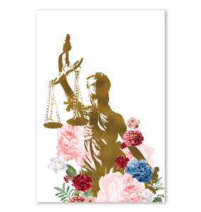 Lady Justice Lawyer Gift Poster