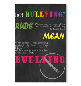 Is It Bullying Poster