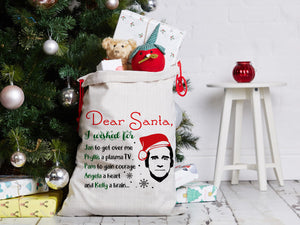 FOAL14 The Office Laundry Bag, Dear Santa, Spun Poly, Drawstring top