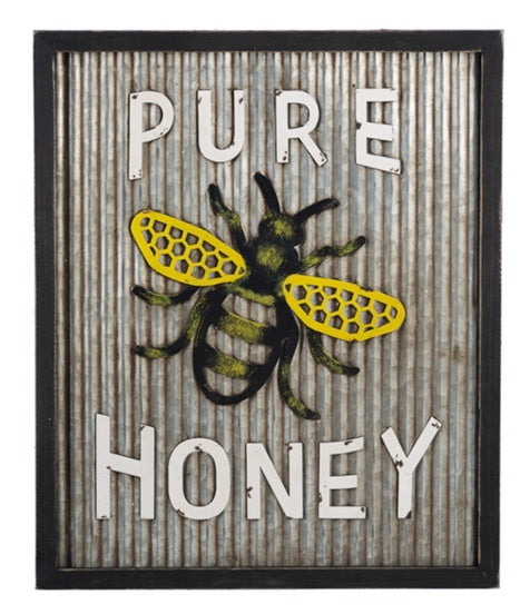 Corrugated Pure Honey Sign