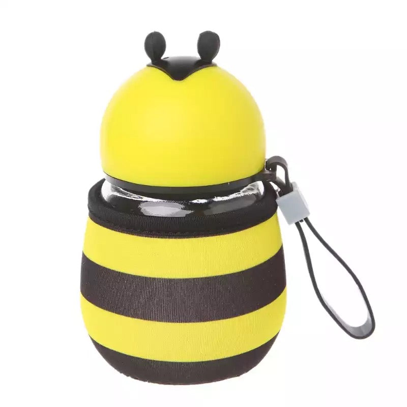 Bee Glass Water Bottle