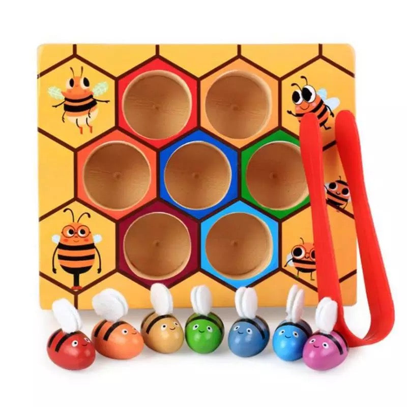Wooden Bee Colour Matching Game