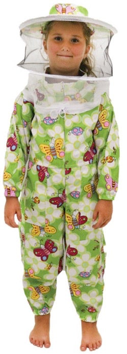 Kids Floral Beekeeping Suit (Green)