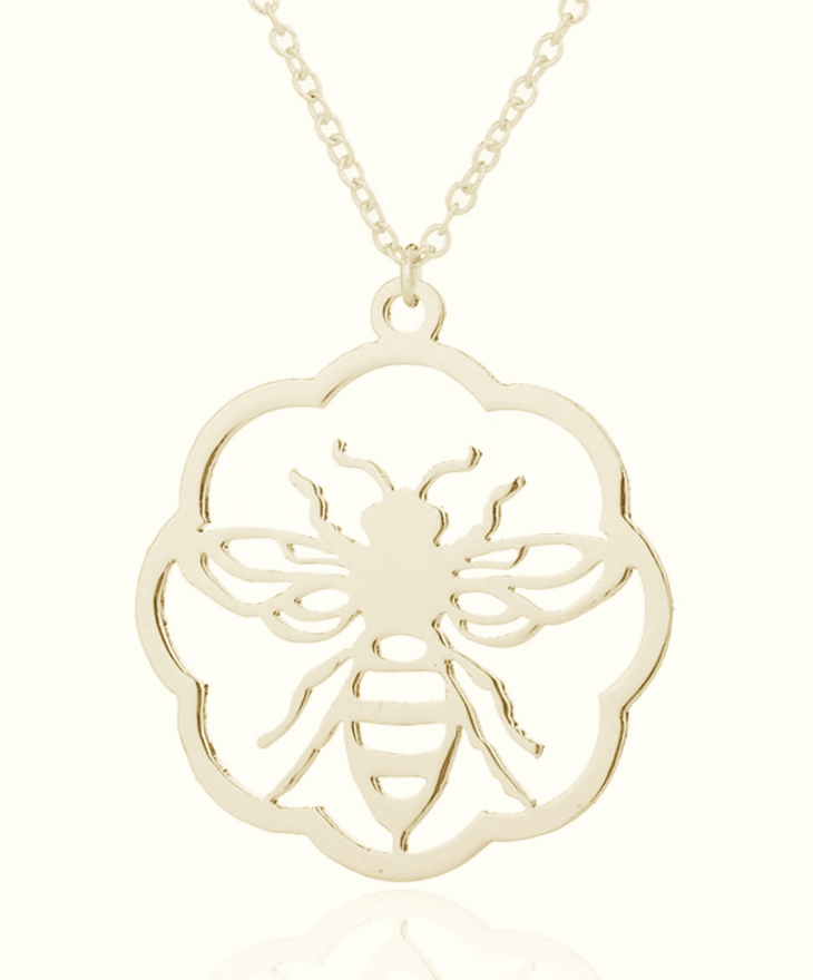 Bee Flower Necklace