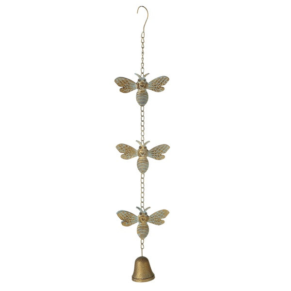 Patina Gold Bee with Bell Chime