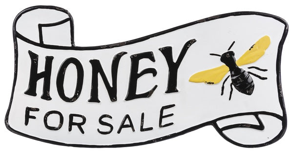 'Honey for Sale' Sign Metal