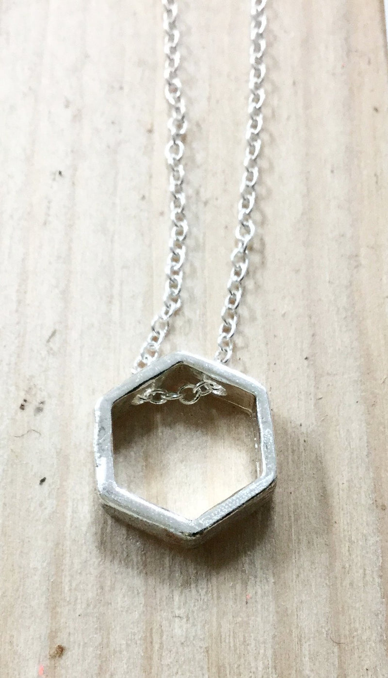 Hexagon Necklace Single