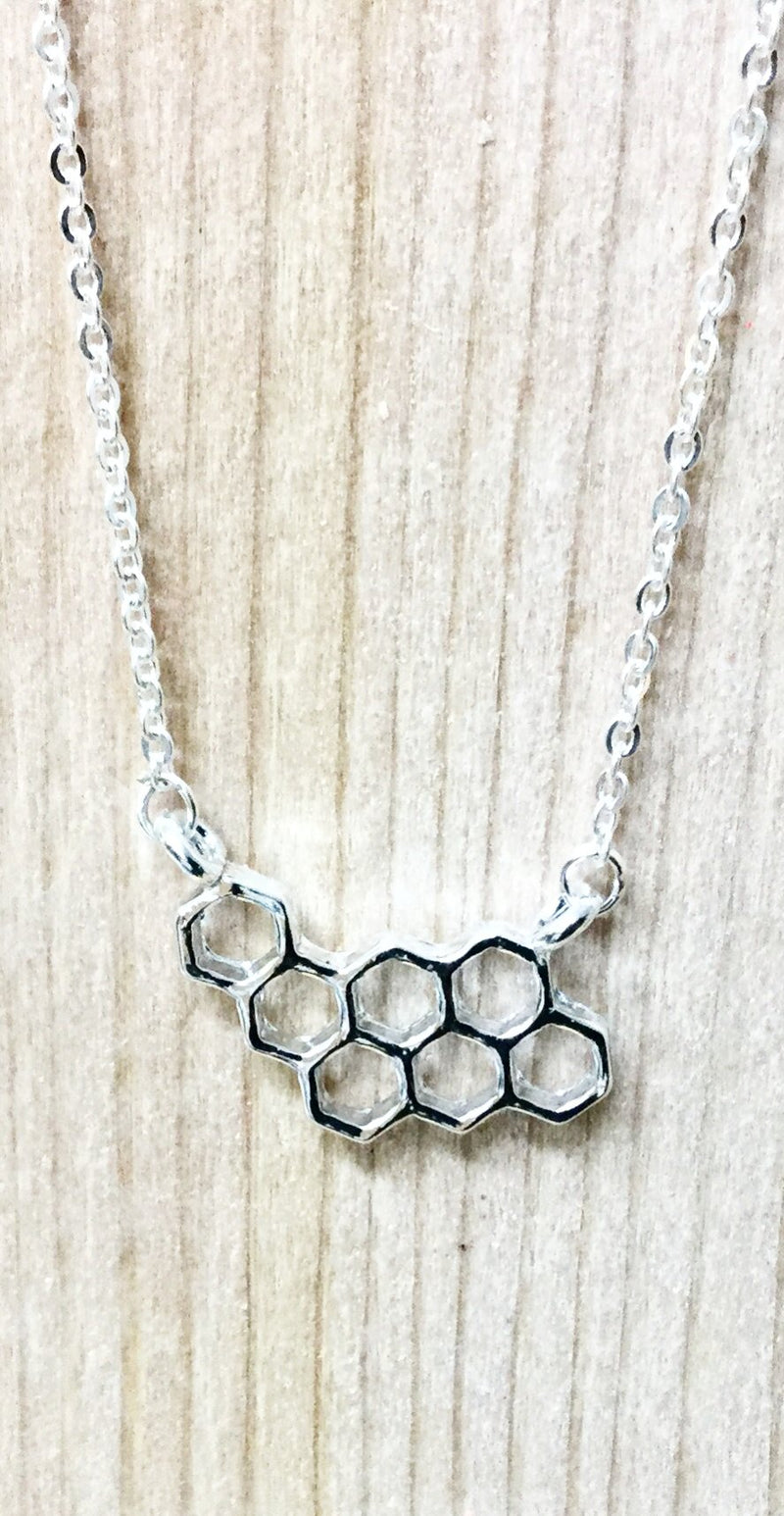 Honeycomb Cluster Necklace