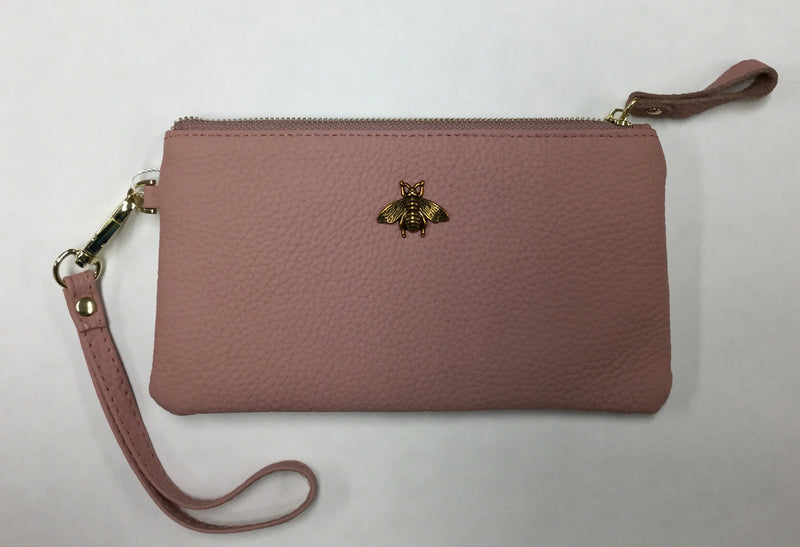 Leather Bee Clutch/Purse
