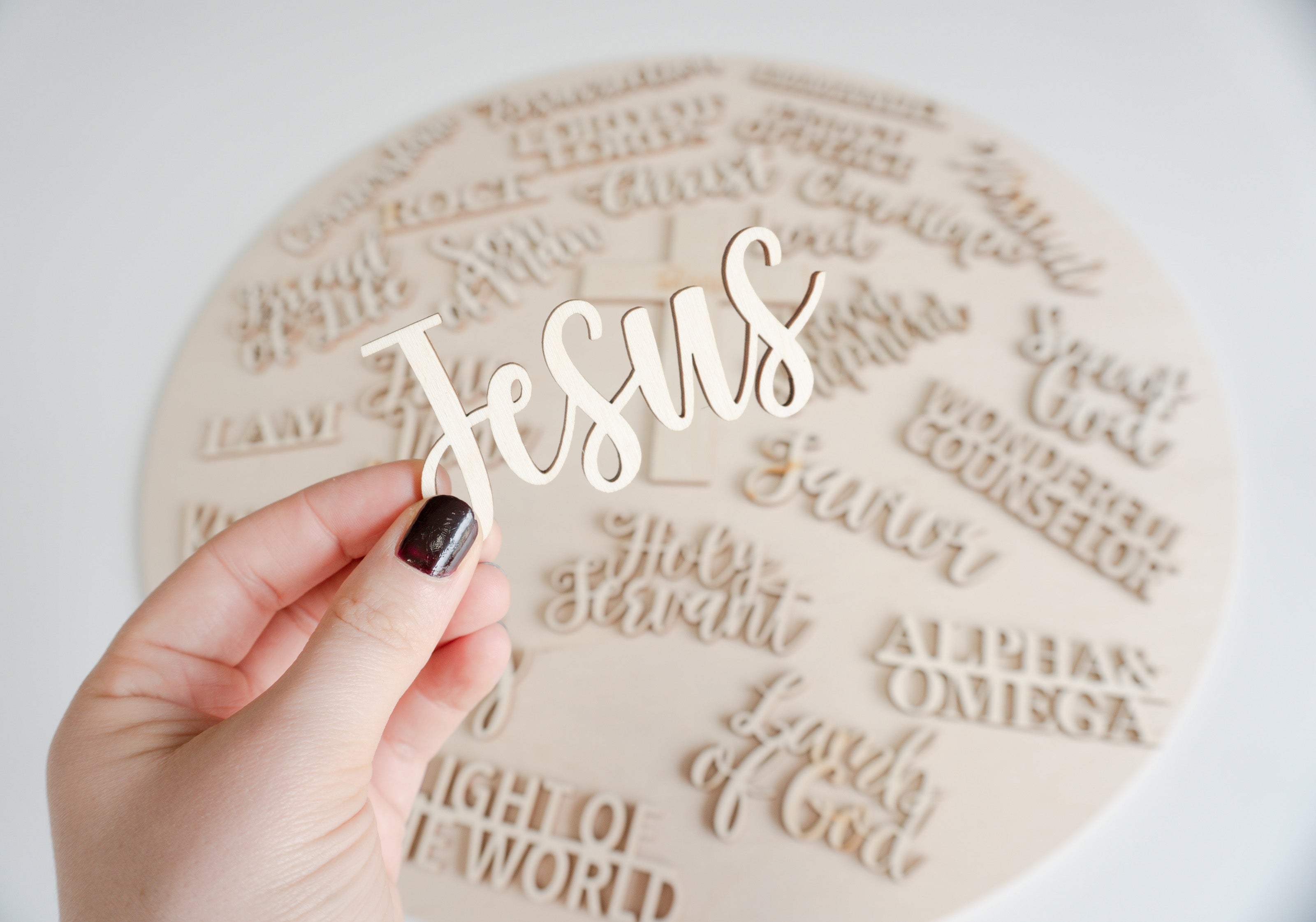names of jesus wood craft project